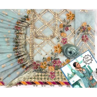 Angarkha Style Net Dress for Ladies