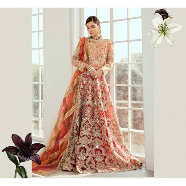 Bridal Dress full embroidery