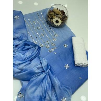 Paper Silk Cotton Mirror Work Collection