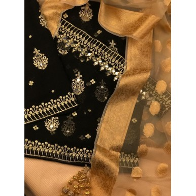Fully Embroidered Sheesha work dress for her