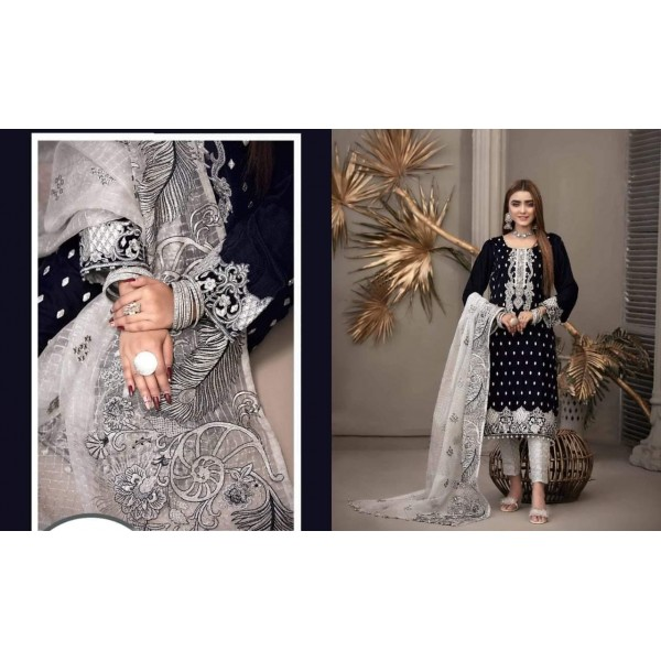 Party wear Embroidered Dress With Sequence and Zari