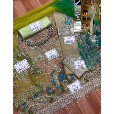 Party Wear Fancy Embroidered Suit With Multi Color Dupatta