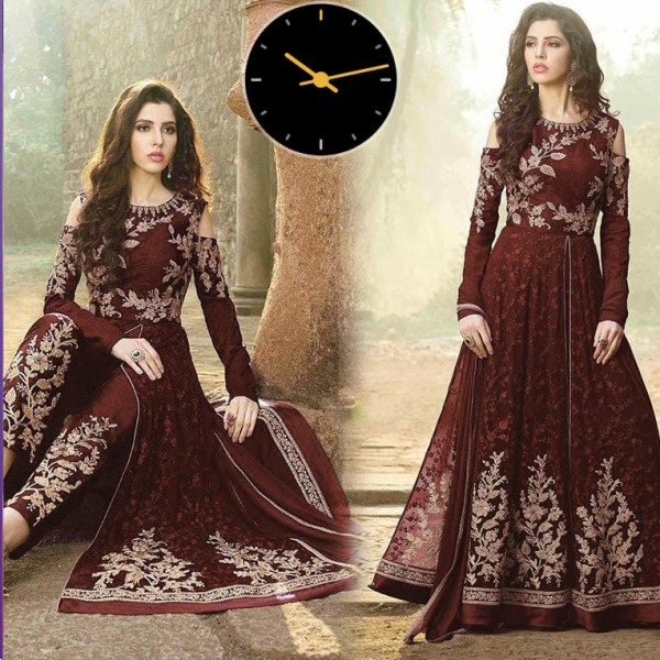 chiffon Party Wear Fancy Embroidered Collection