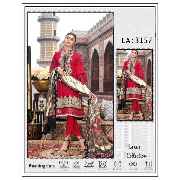 Beautiful Lawn heavy embroidered dress for women