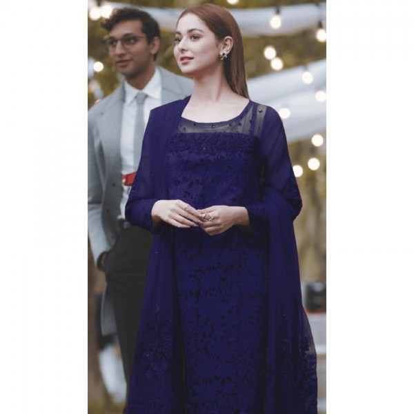 Hand Work Embroidered Royal Blue Suit for Ladies