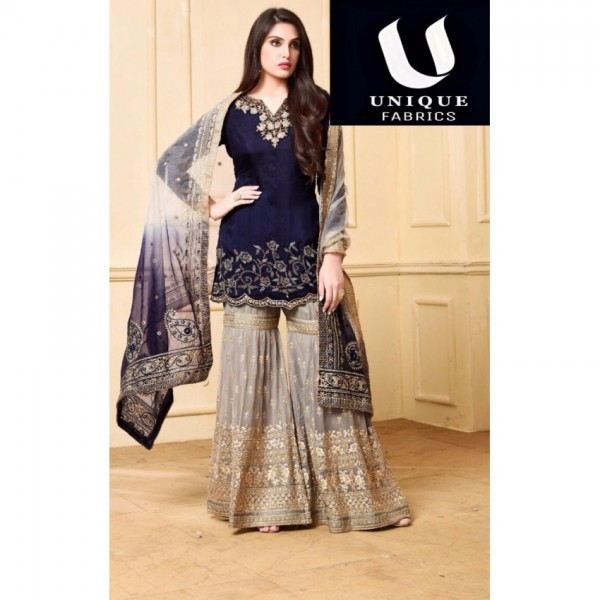 Beautiful Colour Combination embroidery dress for party wear