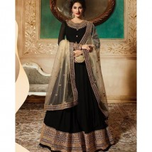 Beautiful embelished Chiffon Maxy For Womens In Black Colour