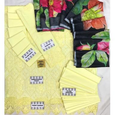Summer Speacial Chickenkari Dress with Printed Dopatta