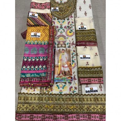 Multicolor Embroidered Dress for Girls