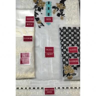 Stylish Organza Dress in White