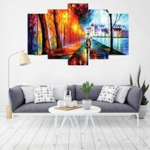 Beautiful Scenery Canvas Digital Set of 5 Wall Frames