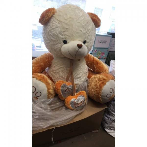 two tone teddy bear 4 to 4.5 ft