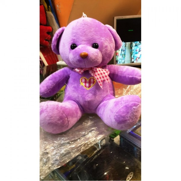 Purple Color Teddy bear - 10 to 12 inches stuff toy for kids