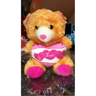 brown bear saying I Love You - 10 to 12 inch