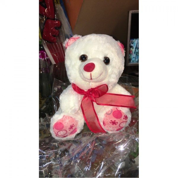Cute Red and White bear - 8 to 10 inches stuff toy for kids