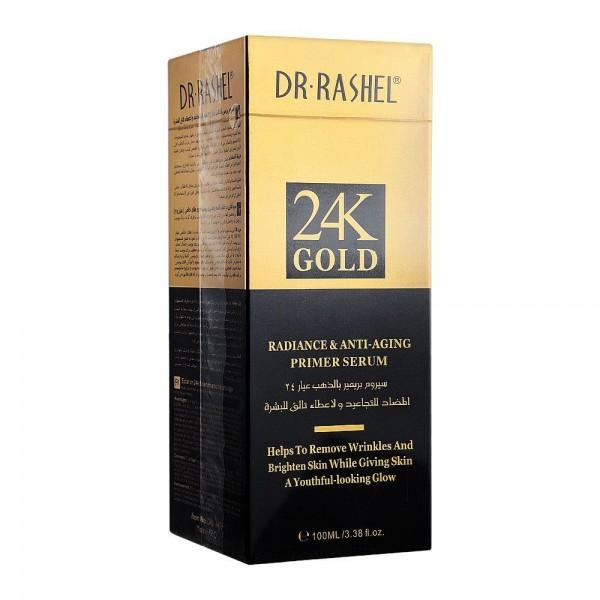 Dr Rashel 24K Gold Radiance And Anti-Aging Primer Face Serum Gold 100ml - Dubai Imported
