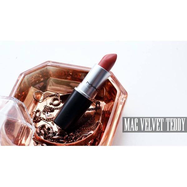 Mac Velvet Teddy - Deep-Tone Beige Lipstick -Full Size - Original