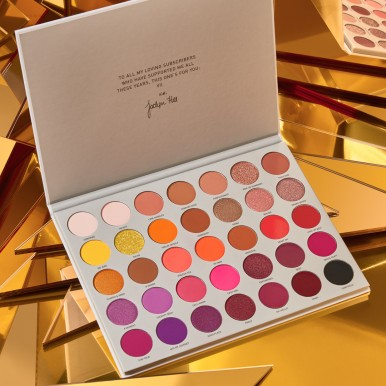 Branded Original Deal - Set of 3 Original Products - Huda Beauty Naughty Palette,  Jacklyn Volume 2 Eyeshadow Palette, Huda Beauty Lipstick (of your choice )