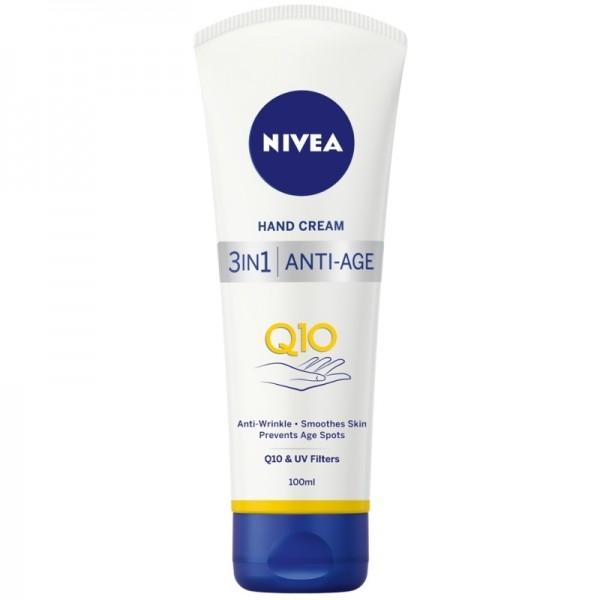 Branded Nivea 3 in 1 Q10 Anti-Age Care Hand Cream- Full Size- Original from UK