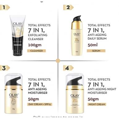 Olay Total Effects 7in1 Anti Aging Moisturiser SPF15, 15 ml