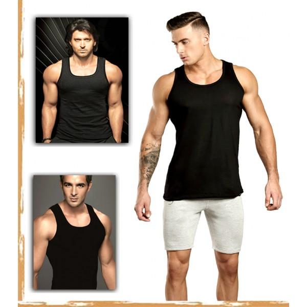 Mens Branded Sleeveless Vest in black colour Box Packed