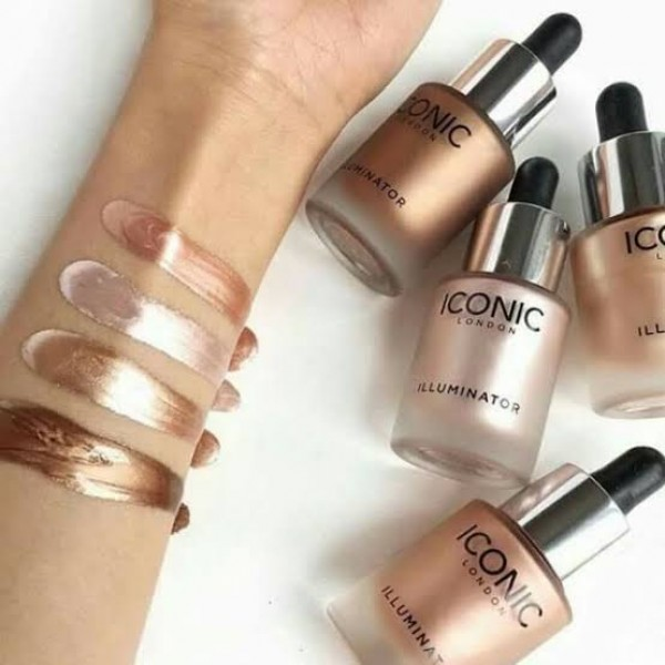 ICONIC four color multi-purpose dropper Makeup high gloss liquid Highlighter  foundation Beauty Original Concealers 30ML