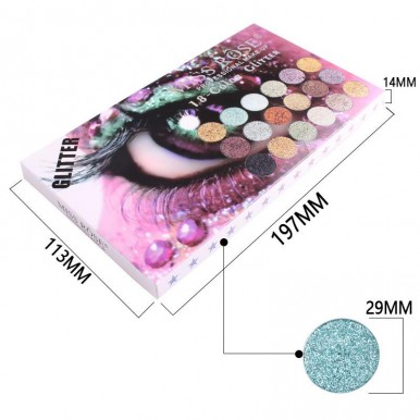 Miss Rose Glitter Eye shadow Pallete to make your Eye More Beautiful 18 - Color