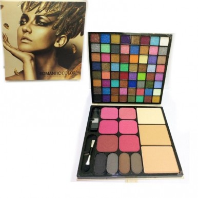 romantic color professional make up matte glitter makeup