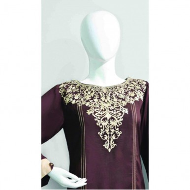 Beautiful neckline embroidery Shirt for her - W004
