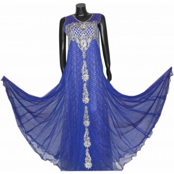 Beautiful Wedding maxi partywear frock for girls A5