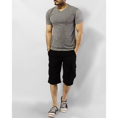 Cargo Shorts For Men in Black Color MST-599