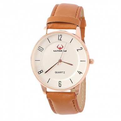 Analog Men Fancy Watch with Brown Strap