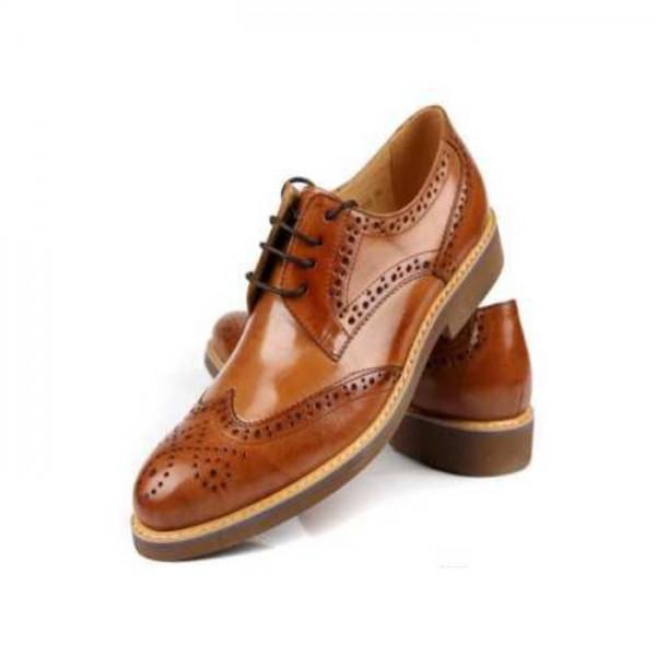 Mustured Formal Shoes For Men
