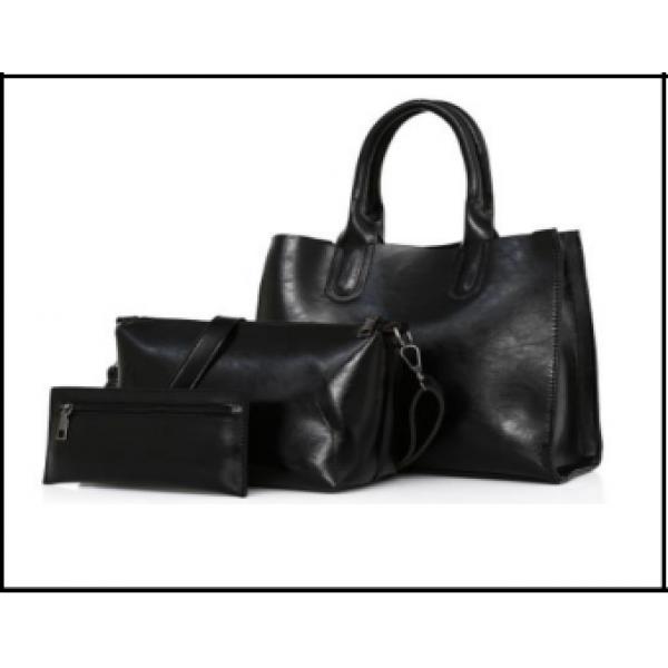 Simple style Tote Handbag for Women - black- Enico B-220-1
