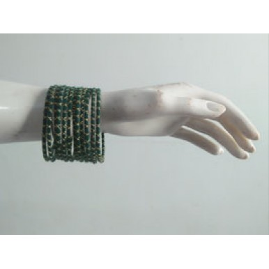 Handmade thread bangles set available in different colors