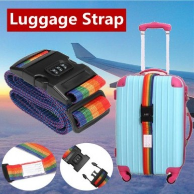 Restable Combination Padlock With Luggage Strap