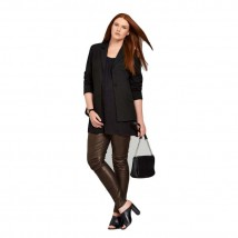 Moncler Brown Leather Pant For Women 909