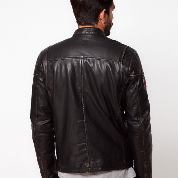 Highstreet Fashion Brown Men Faux Leather Jacket