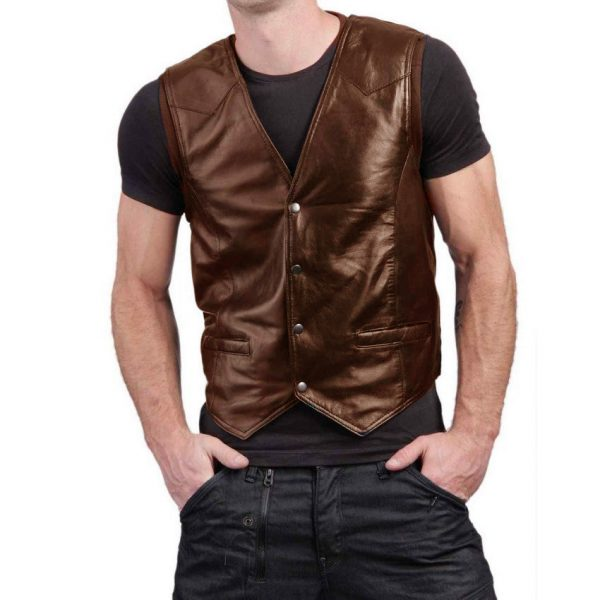Highstreet Fashion Brown Men Faux Waist Coat