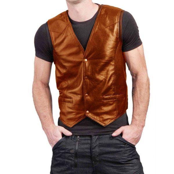 Highstreet Fashion Mustard Men Faux Waist Coat