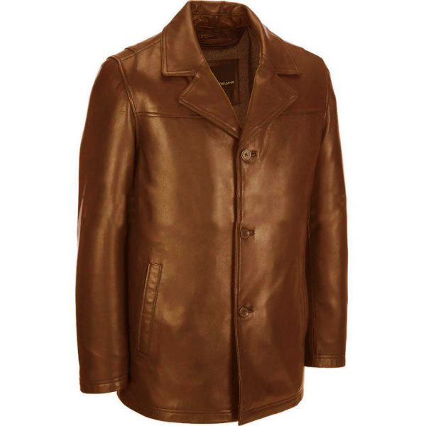 Highstreet Fashion Mustard Faux Leather Coat For Men