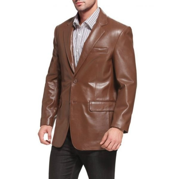Highstreet Fashion Men Formal Leather Coat
