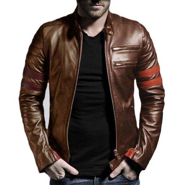 Highstreet Fashion Brown Men Faux Leather Jacket