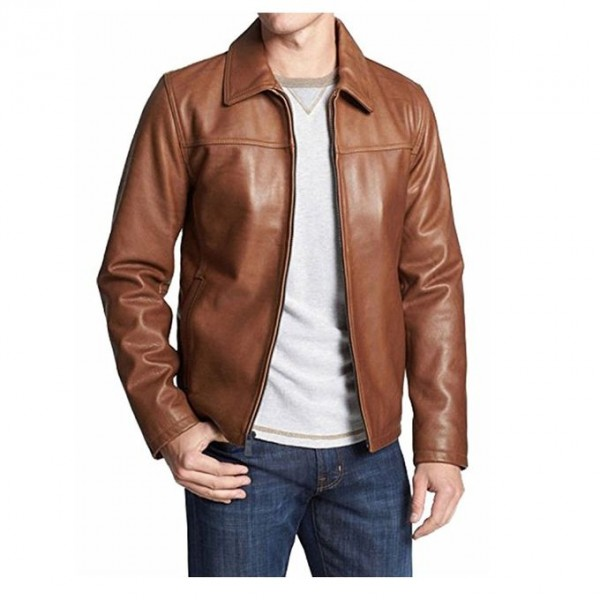 Moncler Highstreet Brown Faux Leather Jacket For Men - BF94