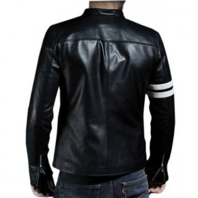 Highstreet Fashion Black Men Faux Leather Jacket