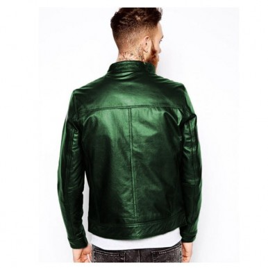 Moncler Highstreet Green Faux Leather Jacket For Men - GF04