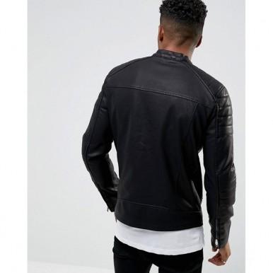 Moncler Highstreet Black Faux Leather Jacket For Men - BF98
