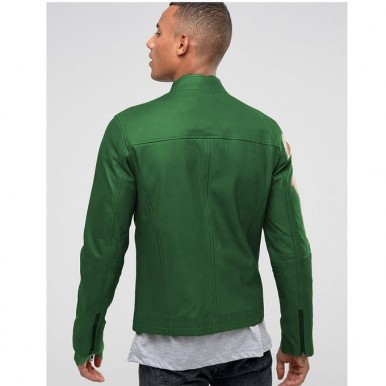 Moncler Highstreet Green Faux Leather Jacket For Men - GF02