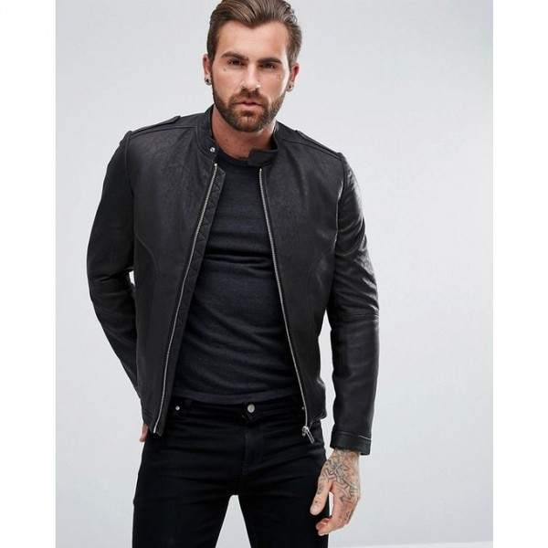 Moncler Highstreet Black Faux Leather Jacket For Men - CB98