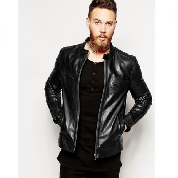High Quality Black Leather Jacket For Men